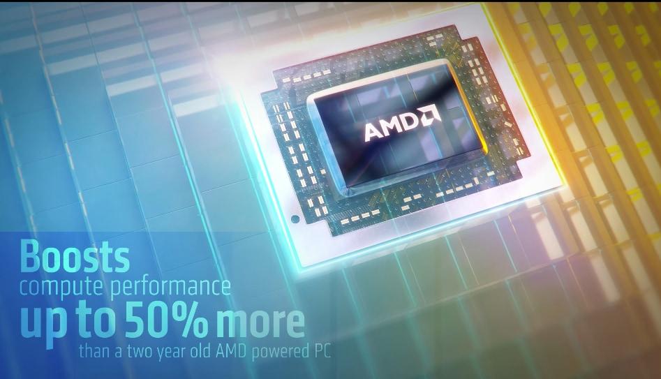 """AMD sfida Intel con la sua 7a generazione di APU """"fino al 51% più veloci degli Intel i7"""" (video)"""