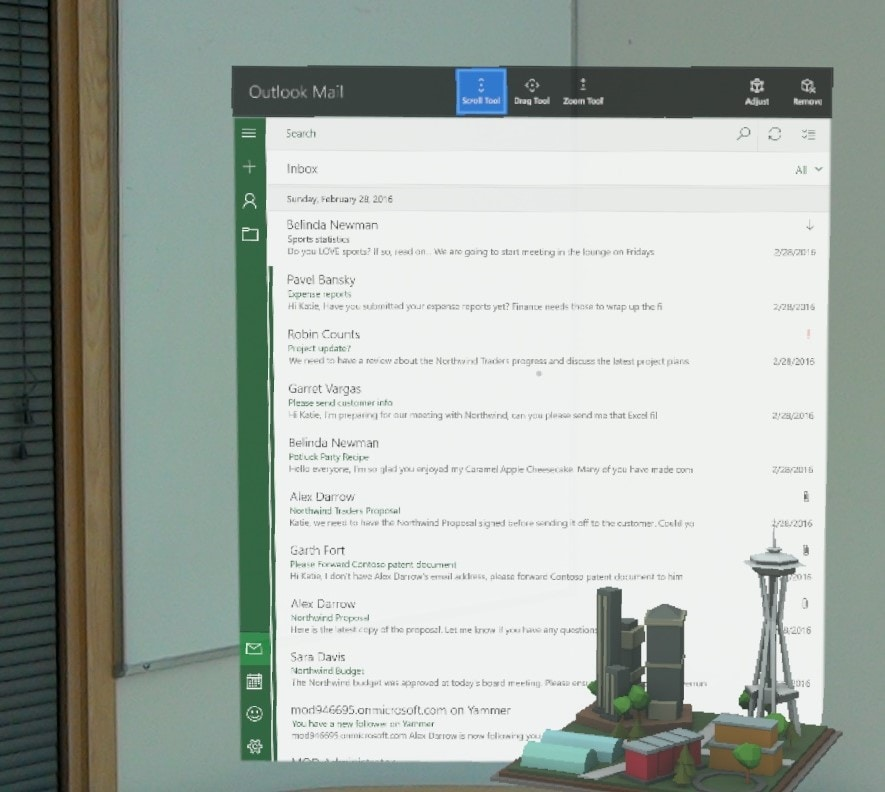 Outlook Calendario HoloLens_2