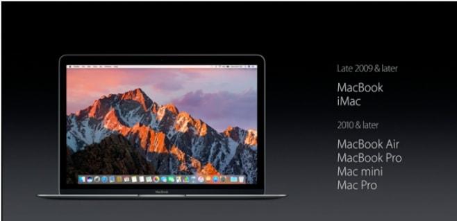 compatibilità macOS Sierra