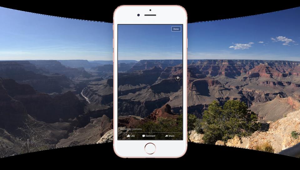facebook foto 360 gradi