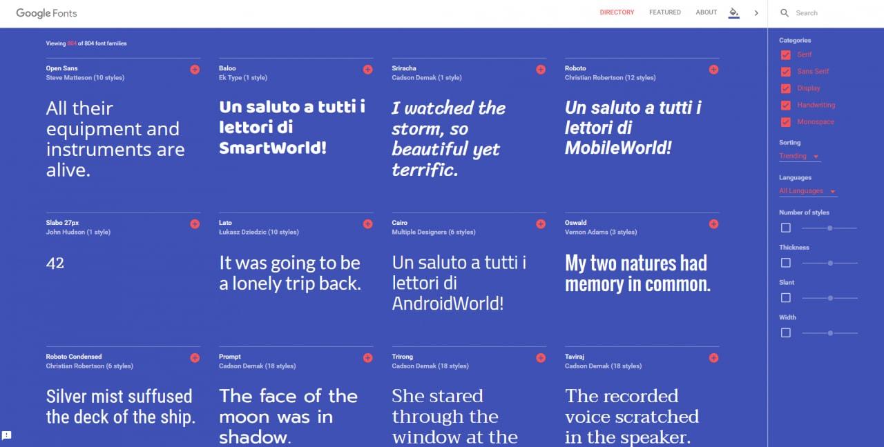 Siete maniaci dei font? Date un'occhiata al nuovo sito interattivo di Google!