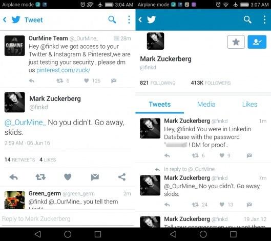 mark zuckerberg profilo twitter hackerato