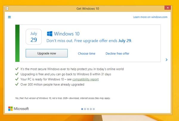 nuovo prompt aggiornamento windows 10