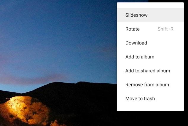 slideshow google foto