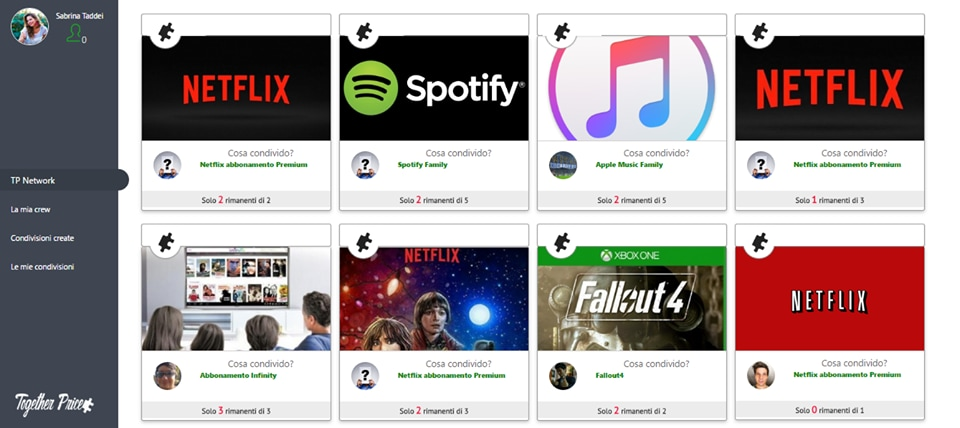 Questo sito italiano vi aiuta a condividere account Netflix, Spotify e molto altro