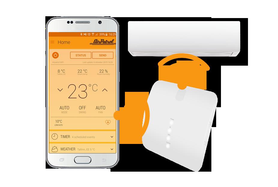 AirPatrol Wi-Fi controllo climitazzatore smat
