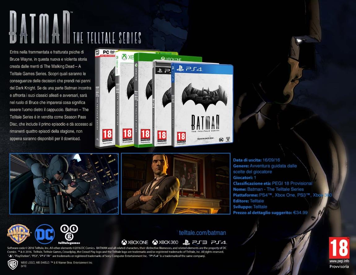 BATMAN – The Telltale Series Back Cover