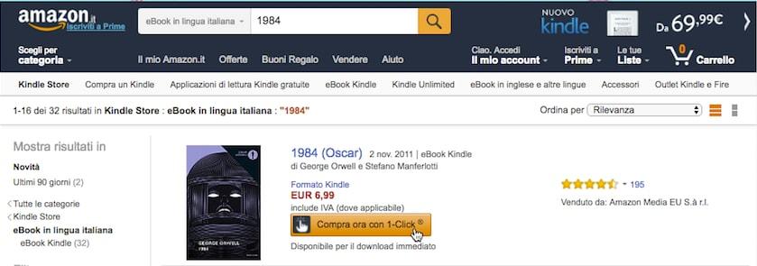Compra libri formato Kindle