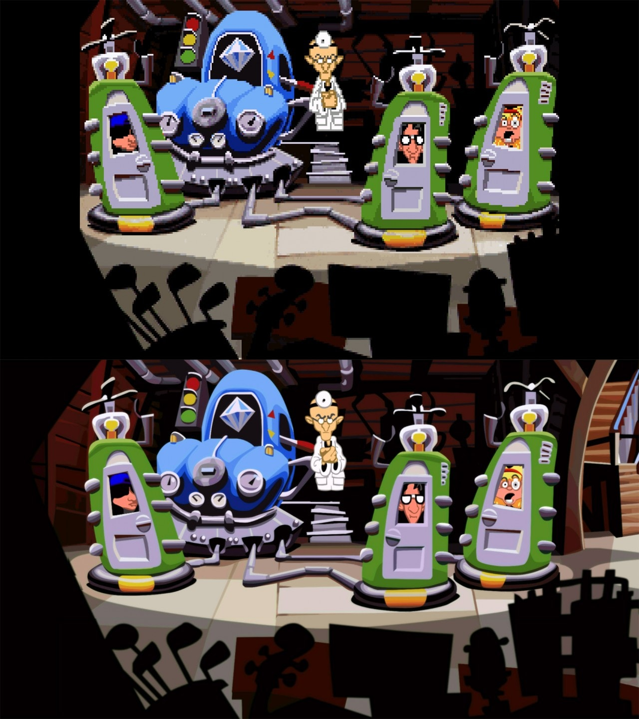Day of the Tentacle Remastered confronto