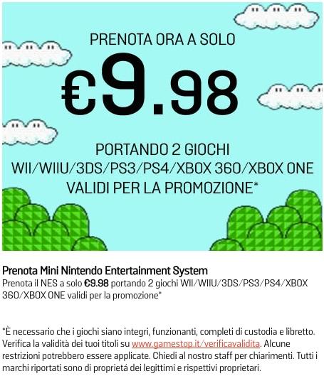 Nintendo Classic Mini NES GameStop 9 euro