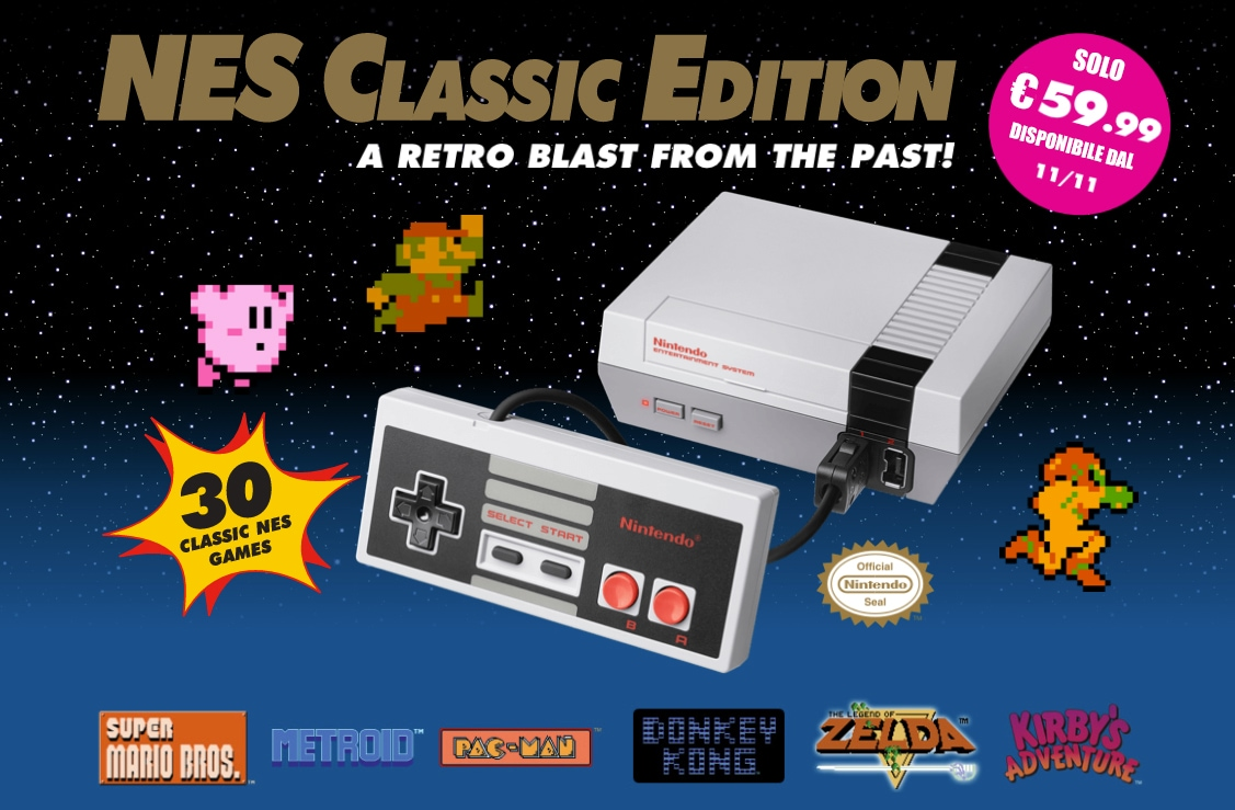 Nintendo classic mini nes disponibilit recensione - How much is a super nintendo console worth ...