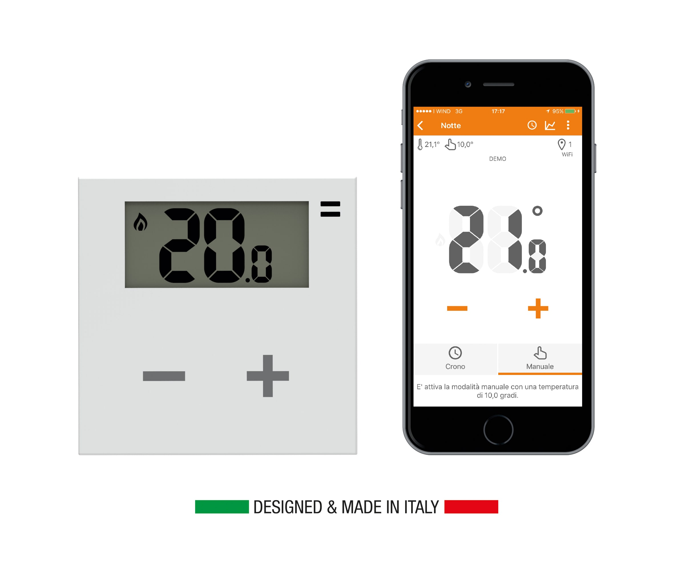 Il termostato smart completamente made in italy smartworld for Termostato bticino thermo p