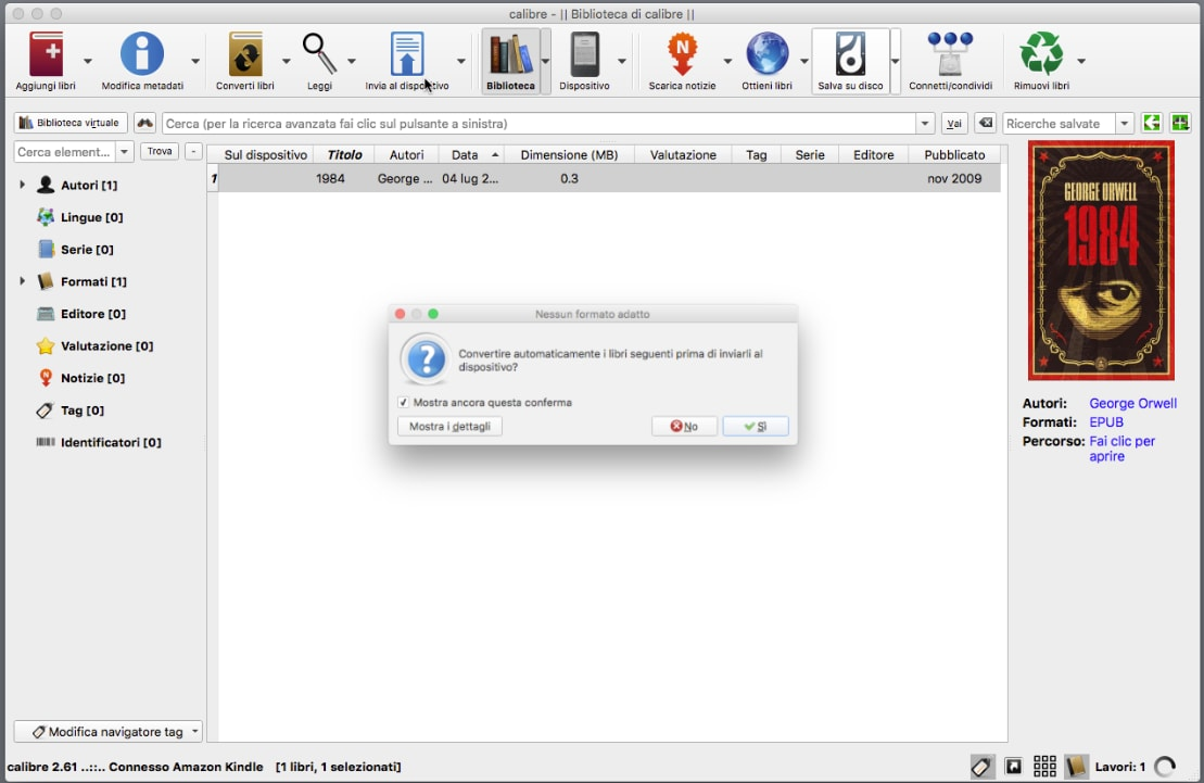 Con Calibre è semplicissimo convertire gli ebook per Kindle