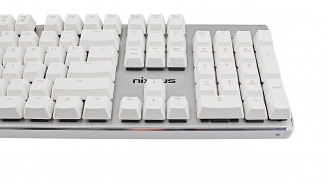 Tastiera meccanica bianca Moda Pro di Nixeus_1