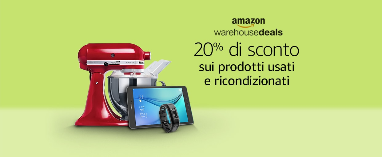Amazon Prime Day: -20% su usato e ricondizionato e 5 Blu-ray a 35€