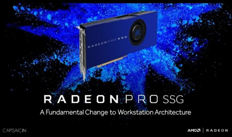 """La GPU professionale di AMD ha un """"SSD"""" da 1 TB e costa 10.000$"""