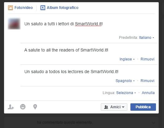 facebook post multilingua head