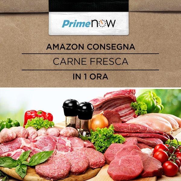 Amazon Prime Now da oggi consegna anche carne fresca! (aggiornamento: anche pesce)