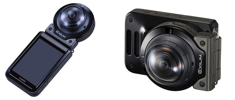 """Casio EX-FR200 è un'action cam 4K """"modulare"""" e a 360°, anche per i selfie (foto)"""