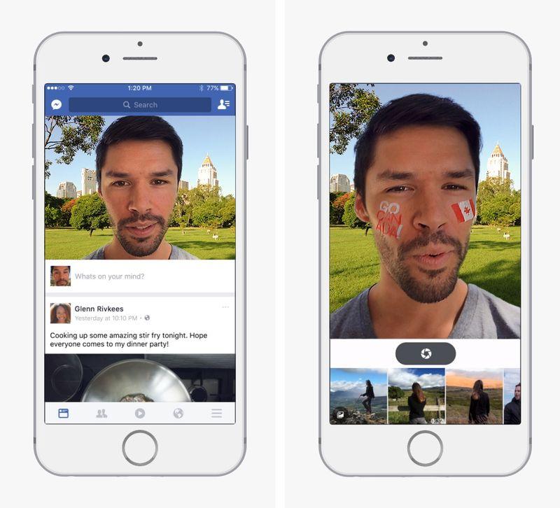 Facebook testa gli effetti di MSQRD nella sua applicazione