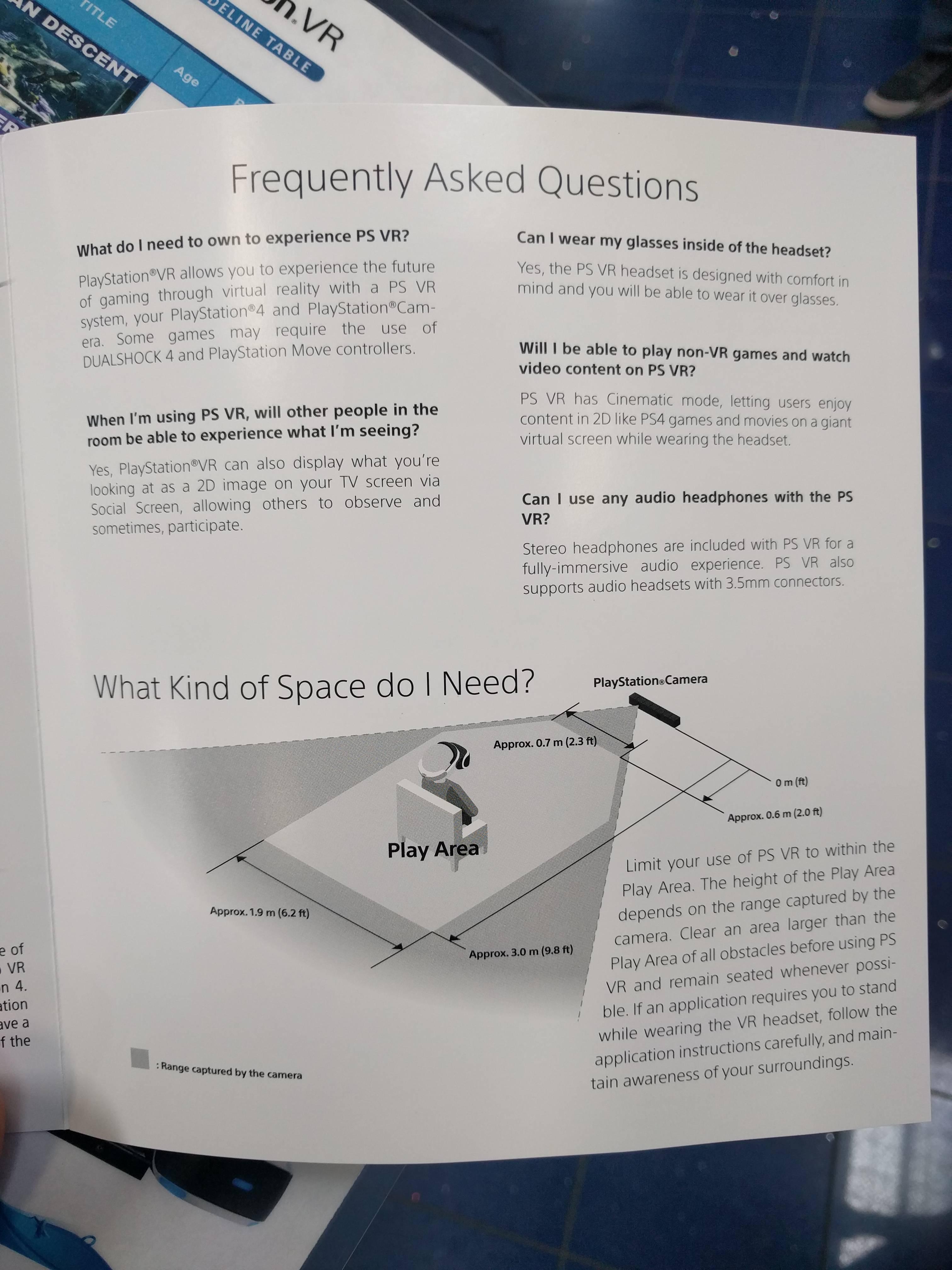 PlayStation VR Brochure