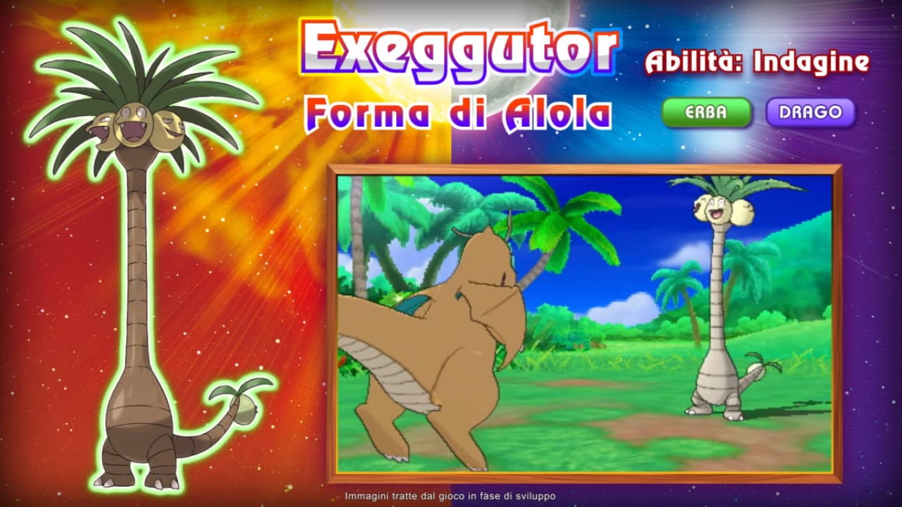 Pokemon Sole e Luna Exeggutor