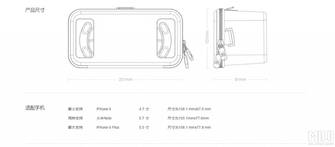 Xiaomi Mi VR specifiche