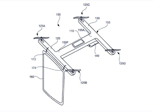 brevetto google droni