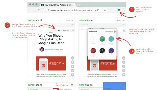 google spaces 2.0 estensione head