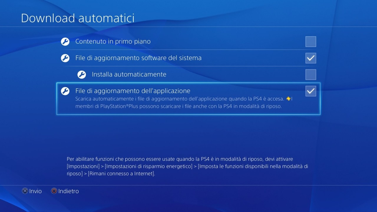 ps4 download automatici