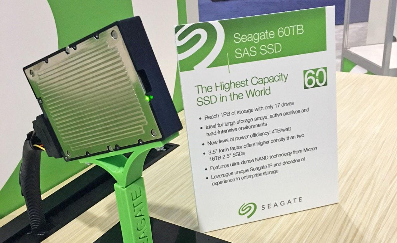 L'SSD di Seagate da 60 TB può contenere 400 milioni di fotografie