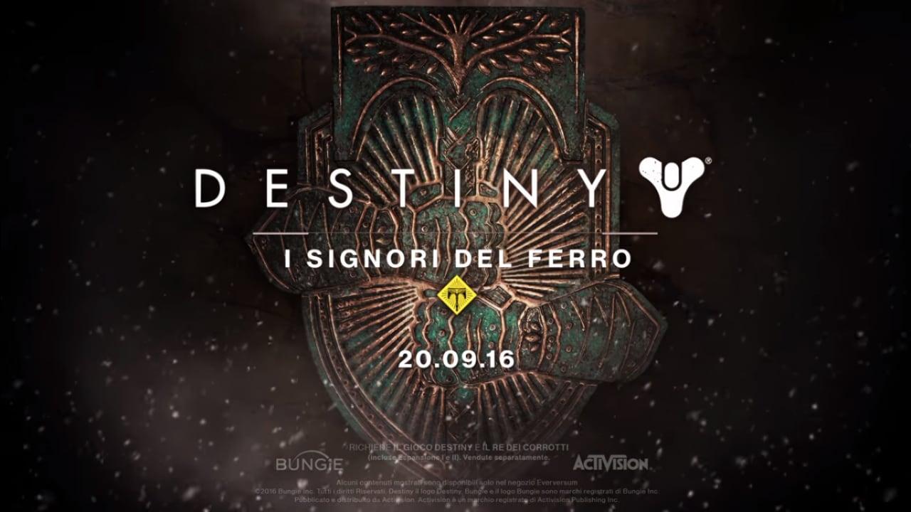 Destiny: I Signori del Ferro disponibile per PS4 e Xbox One (video)
