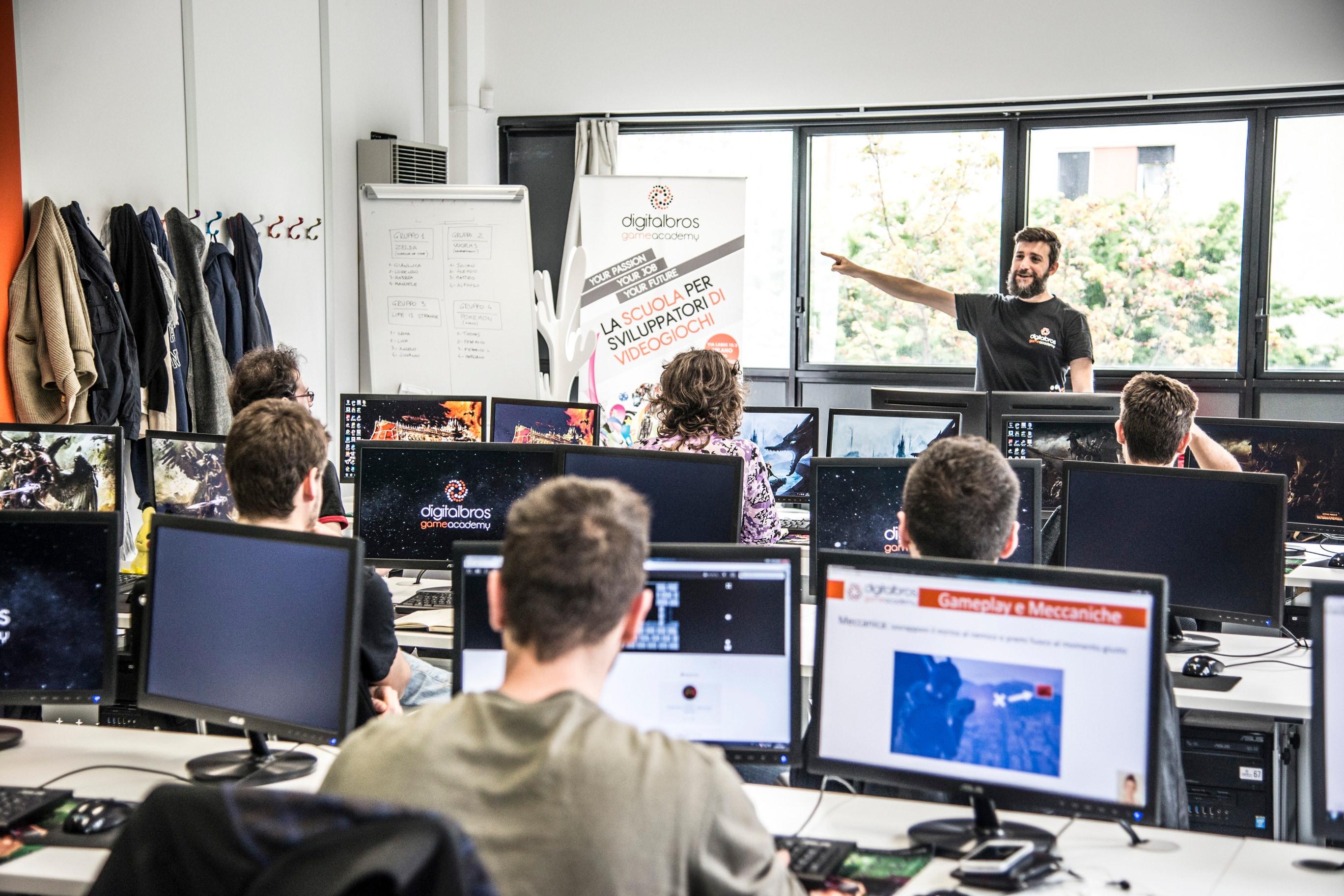 Sognate una carriera da sviluppatore di giochi? Sono aperte le iscrizioni alla Digital Bros Game Academy!