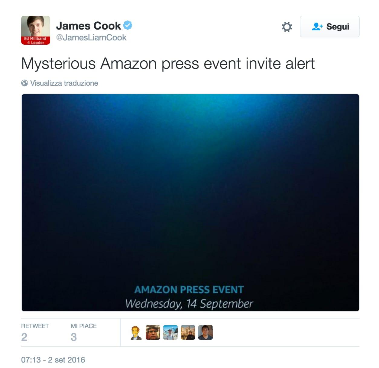 Evento Amazon Settembre