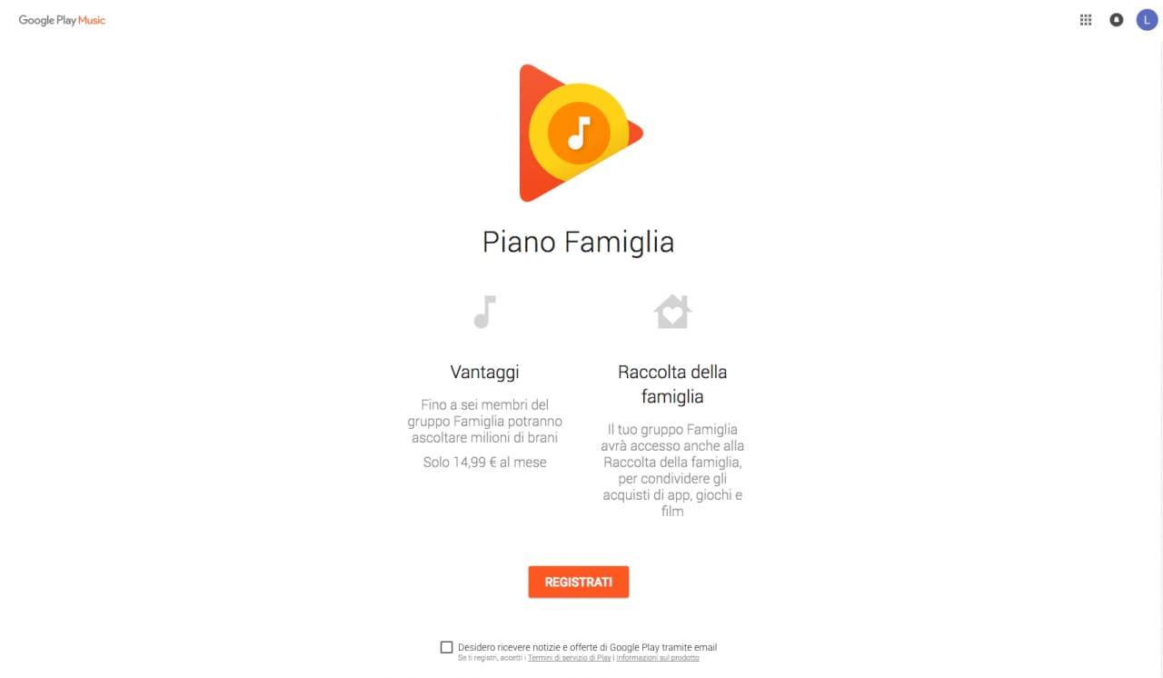 Play Music Piano Famiglia