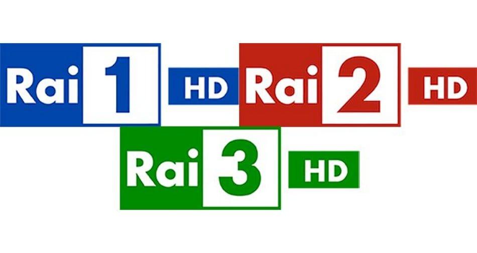 Rai 1 HD, Rai 2 HD, Rai 3 HD