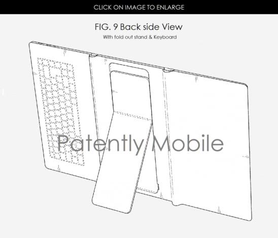 Samsung brevetto tablet pieghevole