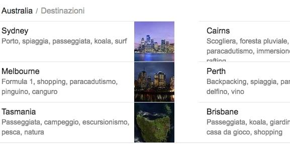 google destinazioni desktop