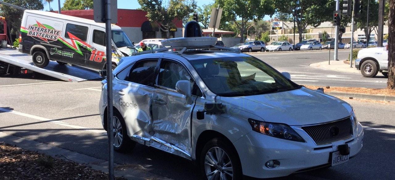 incidente auto guida autonoma google