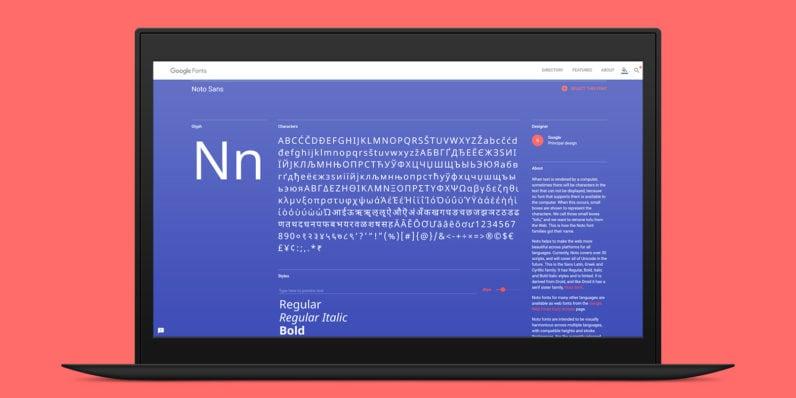 Google font Noto
