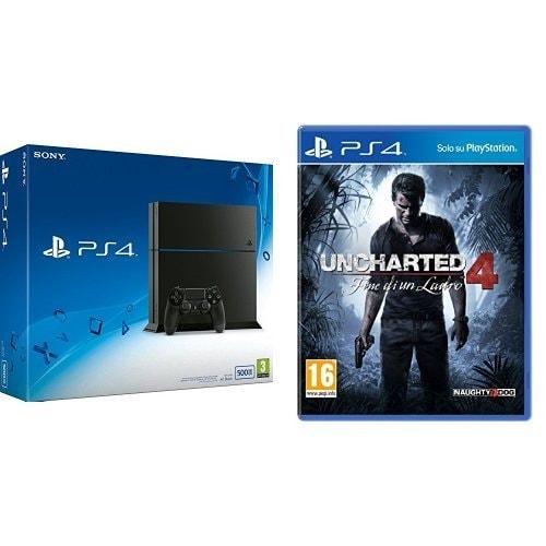 PS4 + Uncharted 4 Bundle