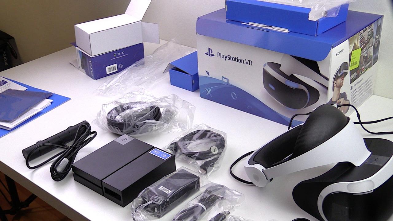 Recensione PlayStation VR - La confezione di PlayStation VR contiene solo lo stretto necessario per il corretto funzionamento del visore.