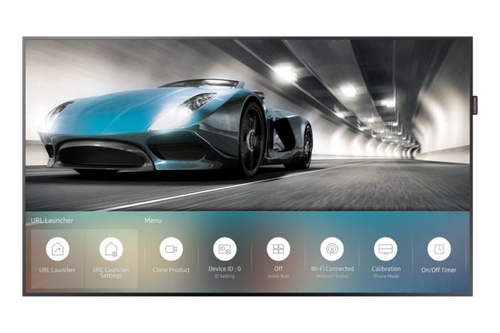 """I monitor di Samsung con Tizen sono degli """"all-in-one"""" perfetti per negozi e luoghi pubblici (video)"""