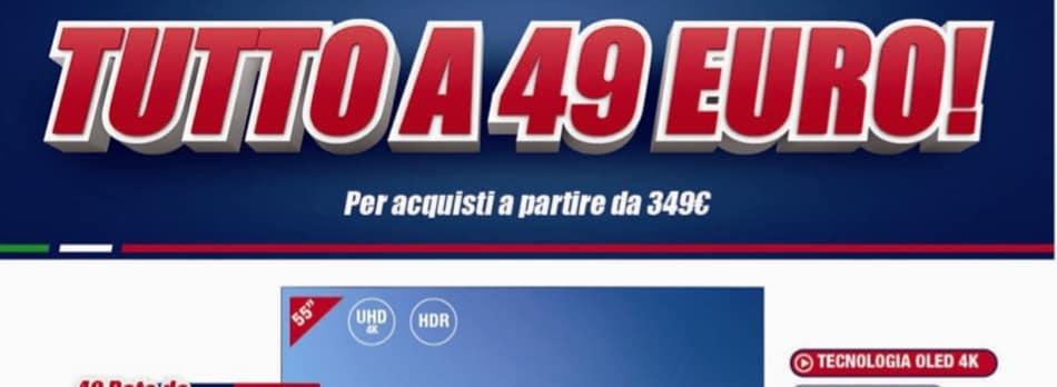 Volantino Trony: rate da 49€ a tasso zero su smartphone, TV e notebook (foto)