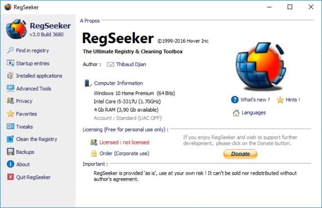 pulizia registro regseeker