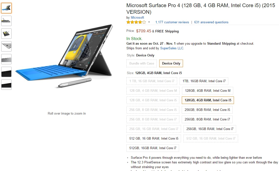 surface pro 4 rinnovamento amazon
