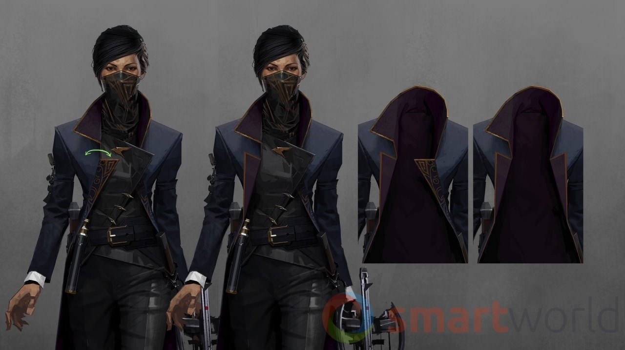 Dishonored 2 - Emily-costume-study