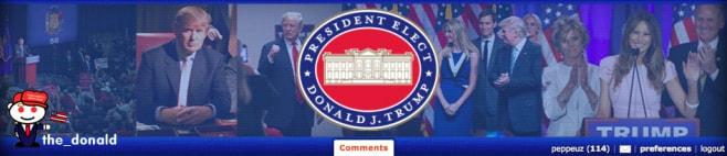 Header di /r/The_Donald