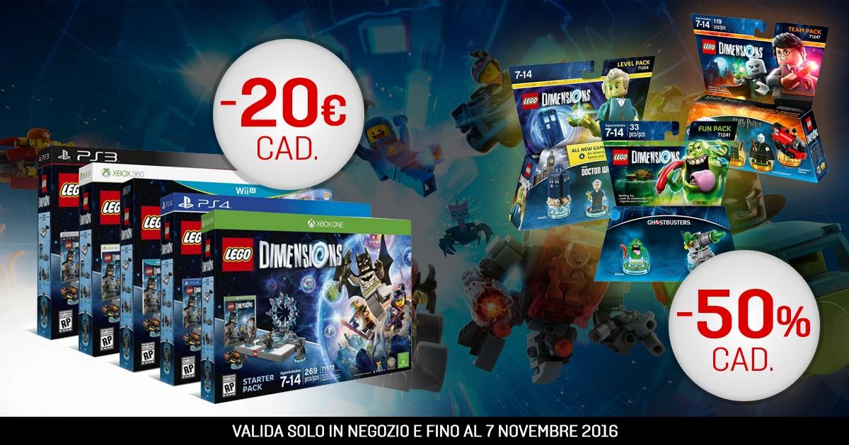 Un'offerta imperdibile per Lego Dimensions da Gamestop (video)