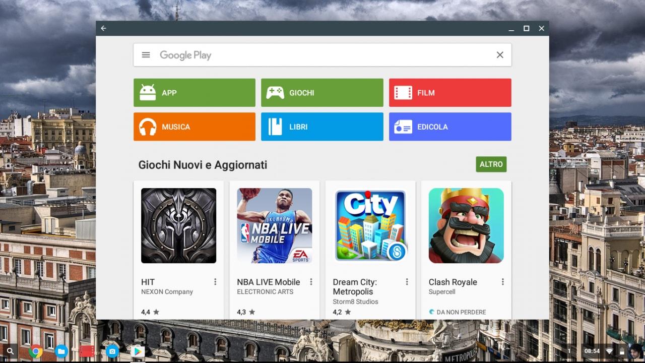 Google aggiunge il supporto alle app Android su altri cinque Chromebook